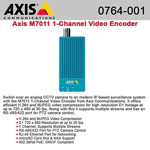 Axis 0764-001 - M7011 Video-Server/-Encoder 720 x 576 Pixel 30 fps M7011 Video Encoder - Video-Server - 1 Kanäle -