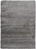 Benuta Shaggy Hochflor Teppich Sophie Grau 120x170 cm | Langflor Teppich für Schlafzimmer und Wohnzimmer