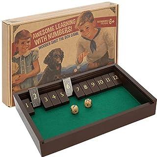 aGreatLife® Shut The Box Klappbrettspiel - Würfelbox aus Holz für 4 Spieler - Klassisches Gesellschaftsspiel garantiert Spaß für Kinder ab 6 Jahren und Erwachsene