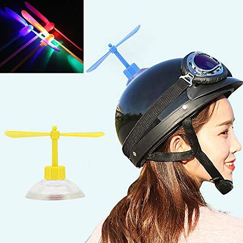 Womdee Kinder Libelle Spielzeug, Libellen-Dekor mit Nachtlicht Flying Dragonfly Dekorationen mit Saugnapf für Motorrad Radfahren Fahrrad Skating Roller Helm