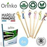 Oriculi en Bambou 6x avec E-Book - Cure Oreille Écologique et Réutilisable pour Remplacement Coton Tige - Zéro Déchet   é à