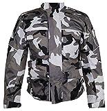 Motorrad Textil Jacke Motorradjacke Racing Wasserdicht Schutzjacke Sommer Camo Camouflage (4XL)
