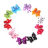 Rrimin 10pcs Pet Hairpin Bow Hair Clips Pet Grooming Products Dogs Dress Up Accessories for Dog Cat