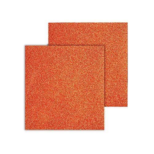 Trimming Shop Orange Glitzer Glänzend A4 Cardstock, 150gsm für Papier Handwerk, Diy Kunsthandwerk,Handarbeiten,Scrapbooking ,Geburtstagsparty Dekoration,Projekte,2sheets