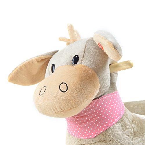 Pink Papaya Schaukeltier - Esel Pepe - Kinder und Baby Schaukelpferd, spezieller Schaukelstuhl für Kinder, mit Sound, Kopfhöhe ca. 50 cm, Sitzhöhe ca. 30 cm - 3