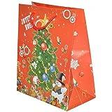 Weihnachtstasche Geschenkebeutel rot mit Weihnachtsbaum 44,5 cm