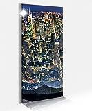 Acrylglasbild 40x100cm New York City USA Skyline oben Glasbild Bilder Acrylglas Acrylglasbilder Wandbild 14B154, Acrylglas Größe2:40cmx100cm