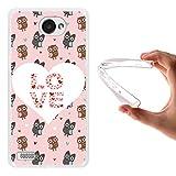WoowCase LG X150 Bello 2 Hülle, Handyhülle Silikon für [ LG X150 Bello 2 ] Eulen Liebe Herz Handytasche Handy Cover Case Schutzhülle Flexible TPU - Transparent