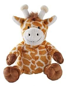 Aroma Home -Peluche Bouillotte micro onde - coussin amovible- Petit Modele - Giraffe