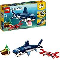LEGO 31088 Creator 3-in-1 Deep Sea Creatures Building Kit, Colourful