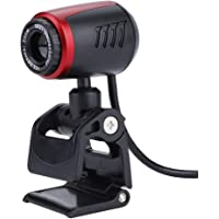 16MP HD Webcam with Microphone, PC Laptop Desktop USB2.0 Webcams,360° Rotation Pro Streaming Computer Camera for Video Calling,Video Conferencing,Online Teaching or Gaming (Red)