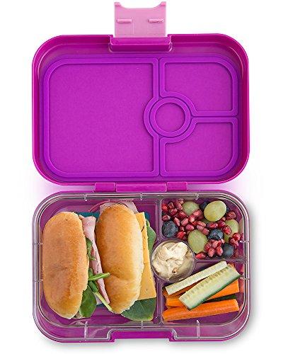 ❤ Yumbox Panino M Lunchbox (mit 4 Fächern, Bijoux Purple) - Brotdose mit Unterteilung | Bento Box mit Trennwand Einsatz | Brotbox für Kindergarten Kinder, Schule & Arbeit (Dip-behälter, Lunch-box)