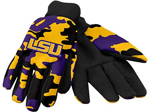 NCAA LSU Tigers Camouflage Utility Handschuh, One size, Gelb