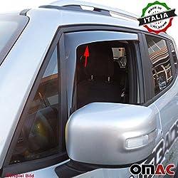 Omac GmbH Land Rover Discovery III IV Windabweiser Regenabweiser 2 tlg Vorne 2004-2015