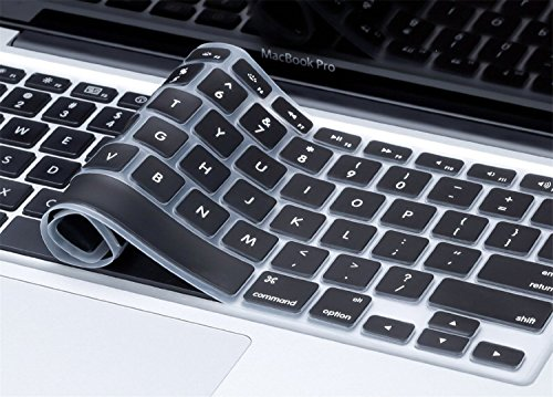 "Plastron Mobicom Soft Silicone Keyboard Skin Guard For Macbook Air 13"", Pro 13"", Retina Pro-13"", Pro 15, Retina Pro 15 (Black)"