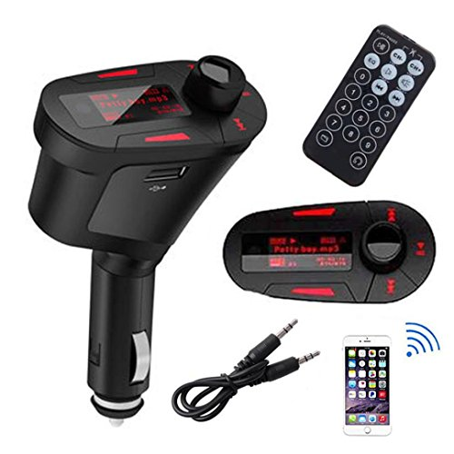 Preisvergleich Produktbild Omiky® 2017 Fashion Car Kit MP3-Player-drahtloser FM-Transmitter USB-SD-Karte Fern Aux In Dual-Ausgang
