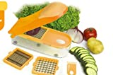 Gemüseschneider Obstschneider Früchteschneider 26x10x6cm, Farbe: Orange