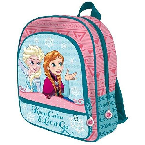 Disney Die Eiskönigin AST4006 Kinder Rucksack, 41cm, 3 Taschen, Polyester, Frozen, Elsa, Anna