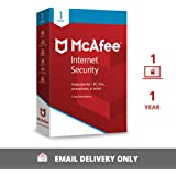 McAfee Internet Security (Windows / Mac / Android / iOS) - 1 User, 1 Year (Email Delivery in 2 hours- No CD)