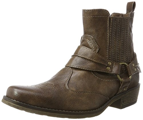MUSTANG Herren Western Stiefelette Cowboystiefel, (Braun 3), 41 EU