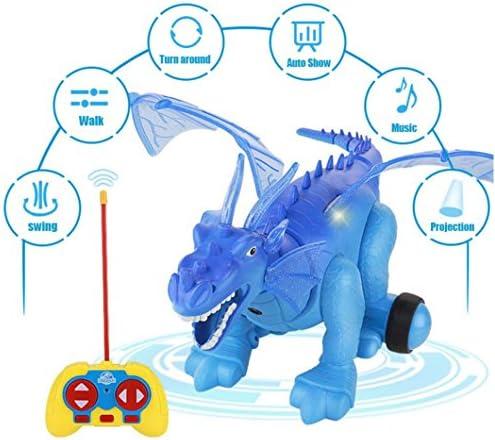 Momola Simulateur électrique dinosaure lumière projection réaliste réaliste réaliste dinosaure jouet d'action modèle (Bleu) | Sortie  8d71ca