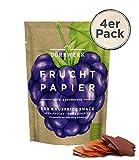 Getrocknete Früchte 4er Set I Fruchtpapier Apfel – Brombeere I Frucht Snack I Trockenobst als Superfood für Büro und Frühstück