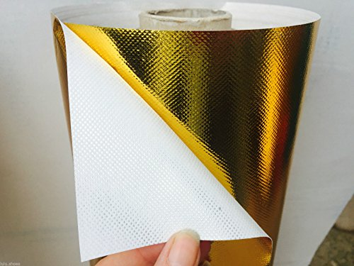 Argento o oro metallizzato Stiff Shiny foil tessuto materiale-Carta fai da te-120cm di larghezza (venduto al