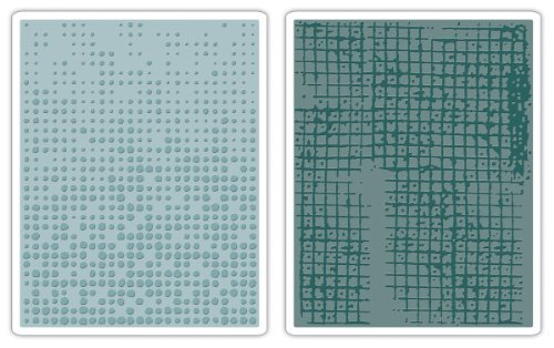 Sizzix Texture Fades Embossing Folders 2PK - Dot-Matrix & Gridlock Set by Tim Holtz by Sizzix - Tim Holtz Dots