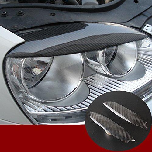 Karbonfaser Frontscheinwerfer Scheinwerfer Wimpern Abdeckung Zierleisten 2Stk