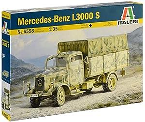 Italeri 6558S 6558S-1:35 - Maqueta de Mercedes Benz L3000 (construcción de maquetas, construcción de Modelos, Manualidades, aficiones, Pegamento, Kit de Montaje de plástico, sin lacar)