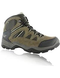 Hi Tec Bandera Ii impermeable mediados de los hombres caminando botas de senderismo Trail zapatos Brown, Marrón, 44