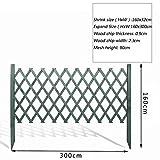 JIANFEI-weilan Steccato Giardino Legno Bordo del Letto di Fiori Protezione delle Piante Barriera di Griglia Carbonizzazione Resistente alla Corrosione 5 Colori 3 Dimensioni