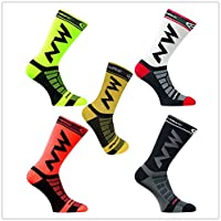 Liyoung Calcetines Ciclismo Ciclismo,Corriendo,Senderismo, Maratón, Triatlón 1 Pack (N