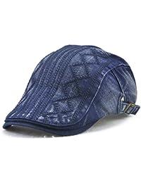 Roffatide Rómbico Rayado Algodón Ajustable Plano Gorra Sombrero de Boina  Golf Chapelas e2784b7b174