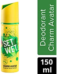 Set Wet Charm Avatar Deodorant Spray Perfume, 150 ml