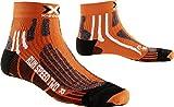 X-Socks de hombre X Run Speed Calcetín 2 unidades, otoño/invierno, hombre, color naranja, negro, tamaño 42/44