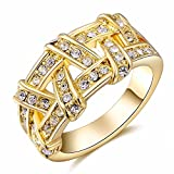 The sweetest weapon Frauen aus Gewirken Ring Hand Verzierungen 18K Gold Ring, Sieben
