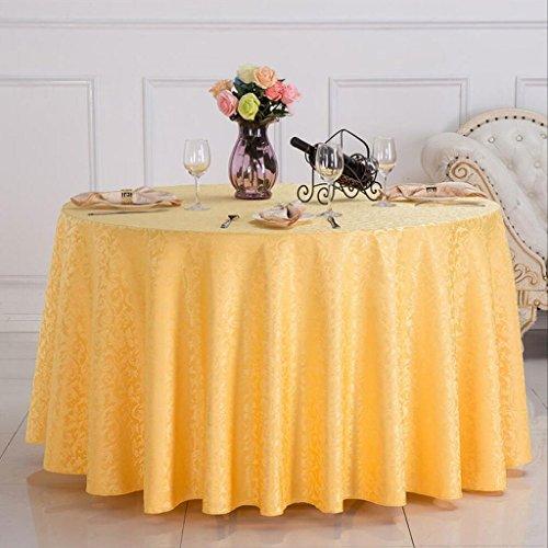 BUYI Hotel runde Tabelle moderne minimalistische Tischdecke Kaffee Tischdecke europäischen Restaurant Café Wohnzimmer Tischdecke Bankett runden Tisch Rock weiß gelb rot lila Fasermaterial, Durchmesser
