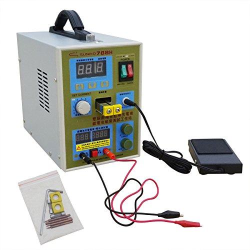 Preisvergleich Produktbild ECO-WORTHY 788H LED Dual Pulse Schweißgerät 18650 Battery Charger 800 A 0.1 - 0.2 mm 36 V