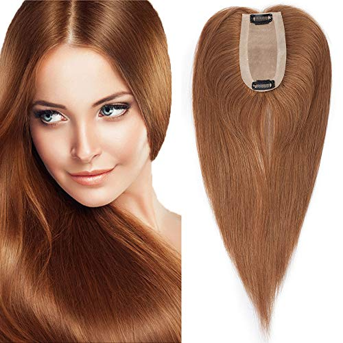 TESS Pony Haarteil Echthaar Extensions Clip in Toupee Haarverlängerung Lace Front Closure Toupet für Frauen 12