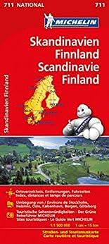 Michelin Skandinavien - Finnland: Straßen- und Tourismuskarte (Michelin Nationalkarte) hier kaufen
