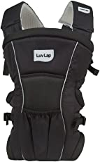 Luvlap Baby Carrier Blossom Black