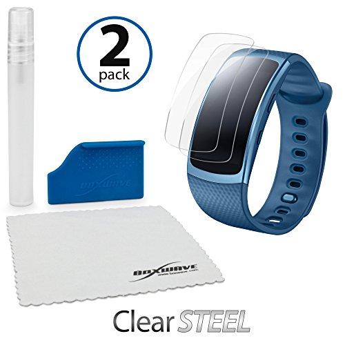 Samsung Gear FIT2, pellicola Boxwave® [Clearsteel (2-pack)] Strong come in acciaio, leggero trasparente di protezione per Samsung Gear FIT2