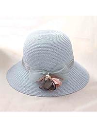 HONEY Cappello di paglia da donna Cappello da sole con visiera Cappello da  spiaggia Cappello da 8531c66bd8b8