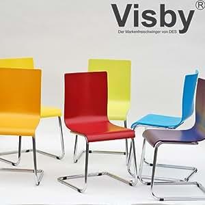 Lot de 2 chaises VISBY (10 coloris au choix)