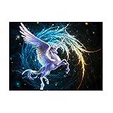 zhouba 5D DIY Diamant Gemälde Kreuzstich Home Flying Colorful Pferde-Stickerei Decor, multi, Einheitsgröße