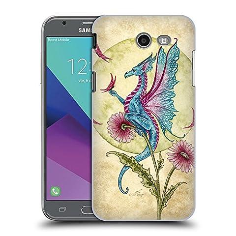 Officiel Amy Brown Rêverie De Papillon Mythique Étui Coque D'Arrière Rigide Pour Samsung Galaxy J3 Emerge