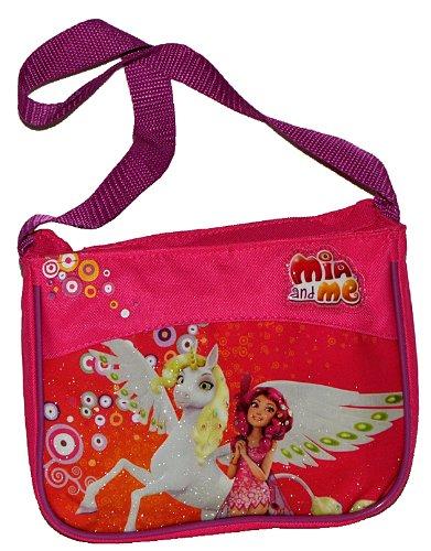 Umhängetasche / Schultertasche Mia and Me für Kinder - Kind Pferde Einhorn Schmetterling Magic Pferde Mädchen Pferd Kindergartentasche Tragetasche (Tragetasche Pferd)
