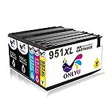 5-Pack Compatible HP 950 951 XL 950XL 951XL Cartucho de tinta para HP Officejet Pro 8100 8600 8610 8620 8630 8640 8660 8615 8625 251dw 276dw (2Negro/1Cian/1Magenta/1Amarillo)