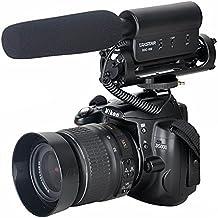Amzdeal Micrófono cañón de condensador de vídeo profesional para cámaras digitales SLR y videocámaras,Micrófono para Nikon Canon Cámara DV Camcorder Nikon DSLR Cámara, Canon DSLR Cámara--Takstar